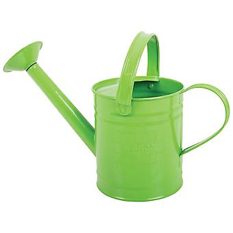 Bigjigs Toys Children's Green Watering Can with Top and Side Handle