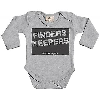 Spoilt Rotten Finders Keepers Long Sleeve Organic Baby Grow