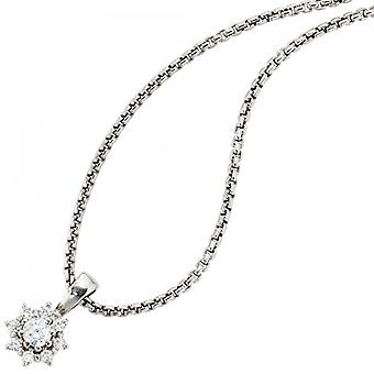 Pendant 925 /-s classic silver pendant of zirconias rhodium-plated sterling silver