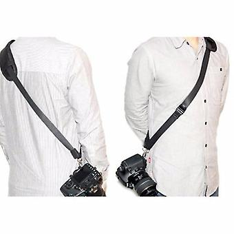 JJC Quick Release Professional Shoulder Sling Strap with storage pocket. Fits to cameras tripod socket with ABS Plate. For Fujifilm FinePix HS10, HS11, HS20EXR, HS22EXR, HS25EXR, HS28EXR, HS30EXR, HS33EXR, X10, X100, X-E1, X-S1