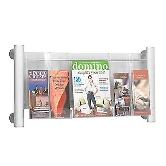 Multi Pocket A4 Brochure and DL Leaflet Holder - Wall Mounted