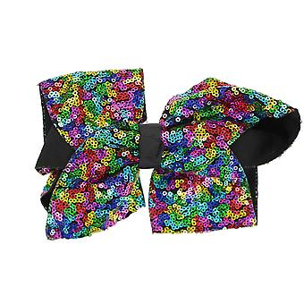 Girls Boutique Large Fashion Sequin Big Hair Bow Dance School Accessory