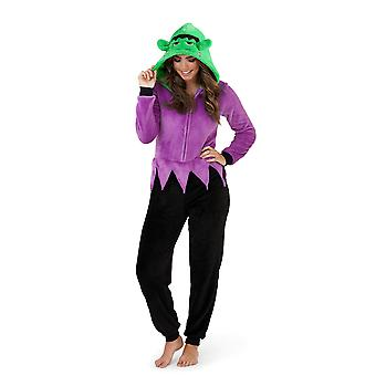Loungeable, Damen Luxus 3D Neuheit Spooky Halloween Fancy Dress-Strampler Overall, Monster-Erwachsene