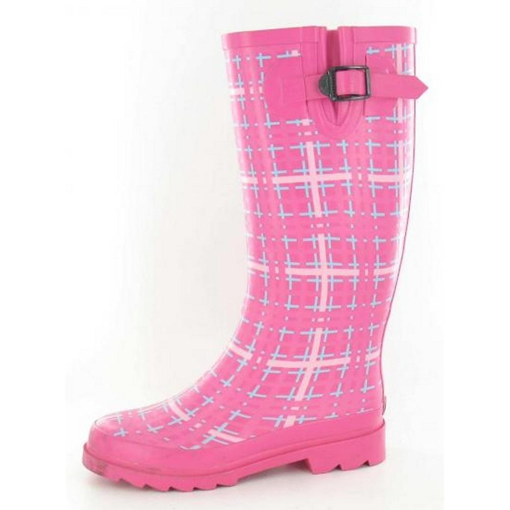 Mid Tartan Wellies Ladies On Womens Calf Print Spot wqZP7Xtgfx
