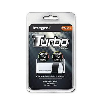 87R4/I2: Integral TURBO 256GB USB 3.0 Flash Drive Up To 400MB/s Read / 300MB/s Write. INFD256GBTURBWH3.0
