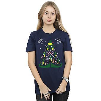 Elf Women's Christmas Tree Boyfriend Fit T-Shirt
