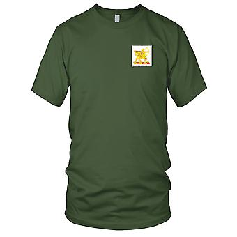 US Army - 6th Field Artillery Regiment Embroidered Patch - Mens T Shirt
