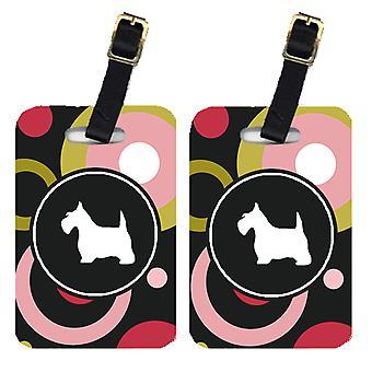 Carolines Schätze KJ1147BT paar 2 Scottish Terrier Gepäck Stichwörter