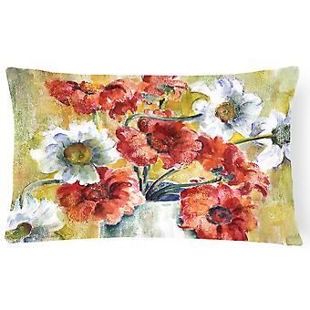 Flowers by Fiona Goldbacher Fabric Decorative Pillow