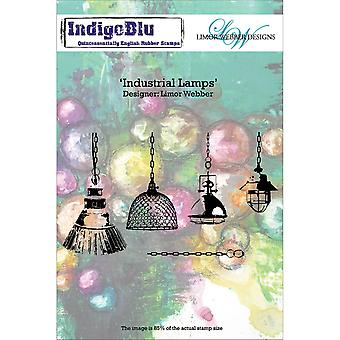 Indigoblu Cling Mounted Stamp -Industrial Lamps IND0137