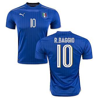 2016-2017 Italia Puma hjem skjorte (R.Baggio 10) - barn