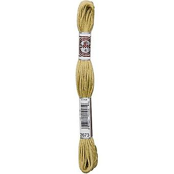 DMC 5-Strand Embroidery Soft Matte Cotton Thread 10.9yd-Very Light Golden Olive 89-2673