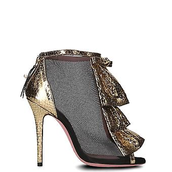 Tipe E Tacchi ladies 4207ONEROROUGE black/gold polyester pumps