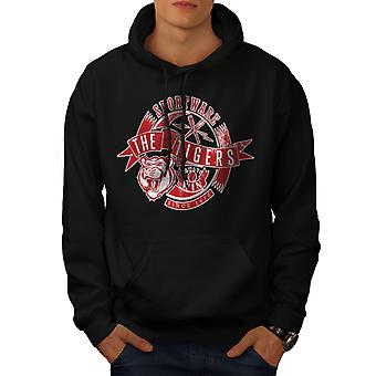 Sportware Tiger Men BlackHoodie | Wellcoda