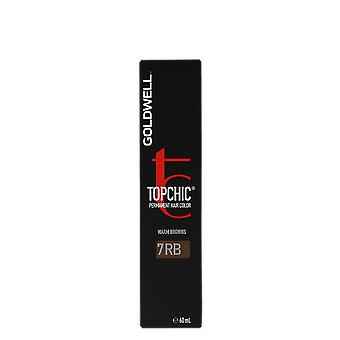 Goldwell Topchic Warm Browns 7RB Light Red Beech Permanent Color 60ml