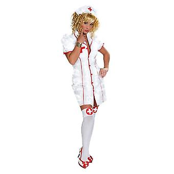 Sexy nurse costume ladies nurse 2-piece set with Cap
