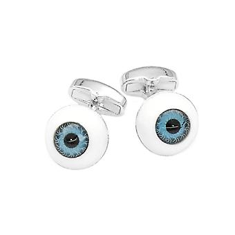 Silver-Tone Men's Cuff Links Eyes Design Mens Cufflinks