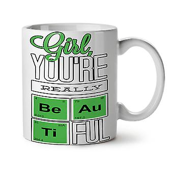 Beautiful Chemistry NEW White Tea Coffee Ceramic Mug 11 oz | Wellcoda