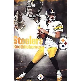 Steelers - B Roethlisberger 12 Poster Print