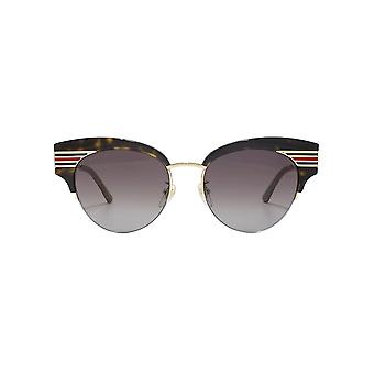 Gucci Vintage Web Cateye Sunglasses In Havana