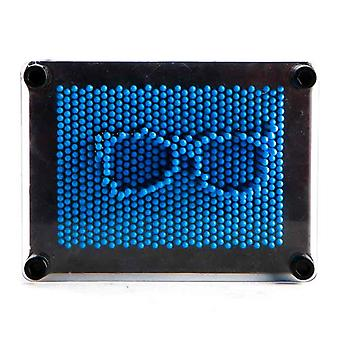 Blue Neon Pin Art