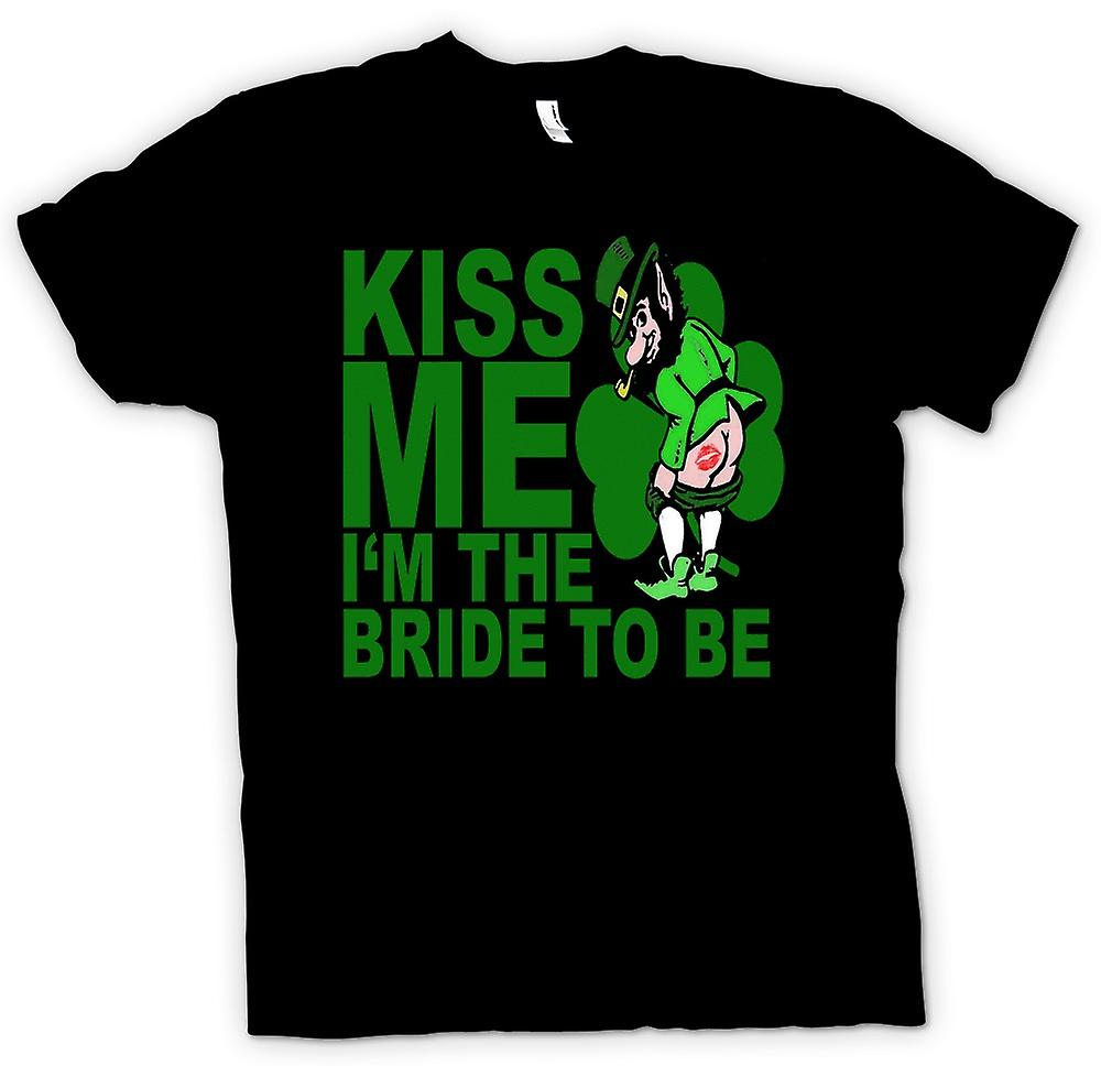 Womens T-shirt - St Patricks Day Irish Kiss Me - Funny