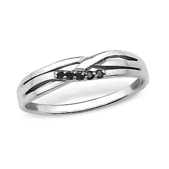 Intertwining - 925 Sterling Silver Jewelled Rings