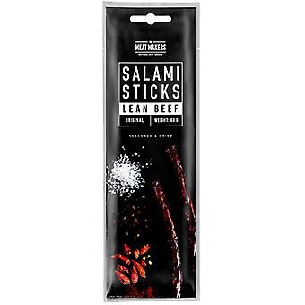 The Meat Makers Salami Sticks Lean Beef Original Box 40 gr x 15
