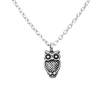 Owl - 925 Sterling Silver Plain Necklaces