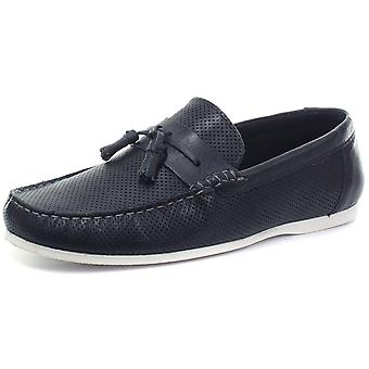 Red Tape M19129 Navy Mens Slip On Boat Shoes