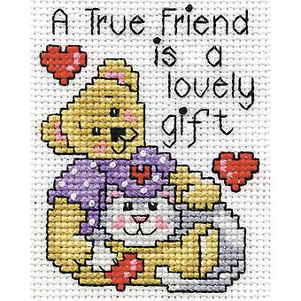 A True Friend Counted Cross Stitch Kit-2.5