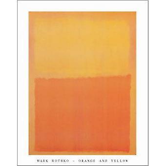 Orange und gelb Poster Print von Mark Rothko (22 x 28)