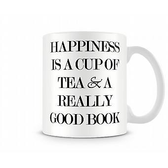 Glücks Tee Buch bedruckte Tasse