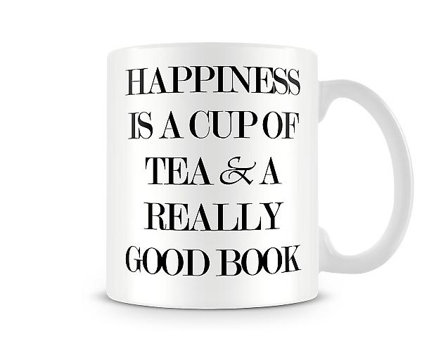 Happiness Tea Book Printed Mug