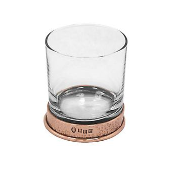 Pewter Rose Hammered Whisky Glass Single Tumbler
