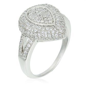 Orphelia sølv 925 Ring Pearshape Micro bane Zirconium ZR-3523