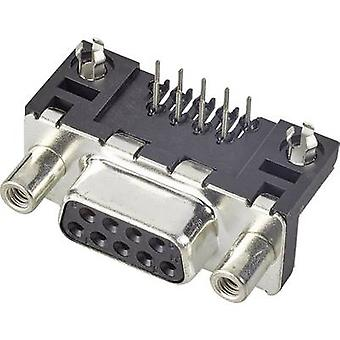 FCI D-SUB D-SUB receptacles 90 ° Number of pins: 9 Print 1 pc(s)
