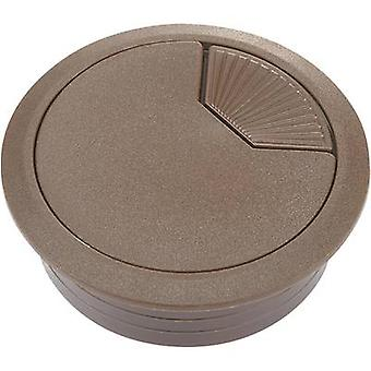 Conrad Components WP60BN Cable grommet for worktops Acrylonitrile butadiene styrene Brown 1 pc(s)