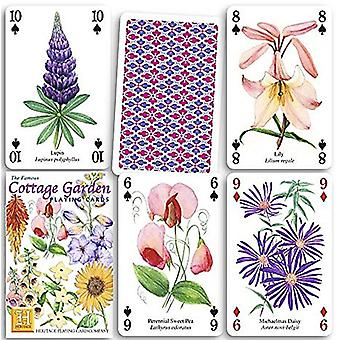 Cottage Garden sæt med 52 spillekort (+ jokere)