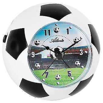 Atlanta hvit 1197 vekkerklokken barna Alarmklokke svart fotball fotball alarm clock for barn