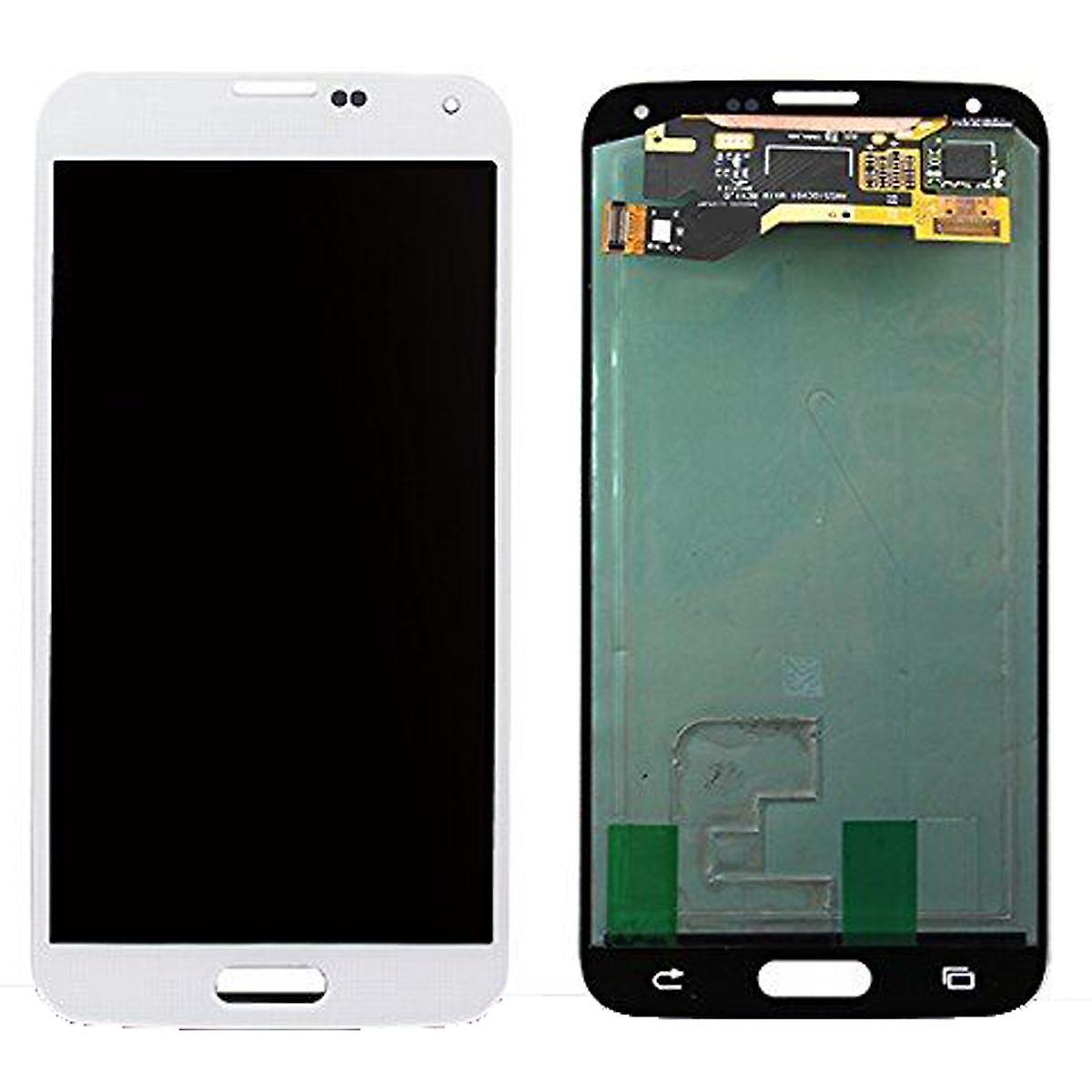 LCD Display & Touch Screen Digitizer Assembly ReplaceHommest for Samsung Galaxy S5 (blanc)