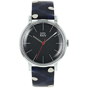 Orla Kiely Womens Patricia Dark Marine And Ink Print Strap OK2199 Watch