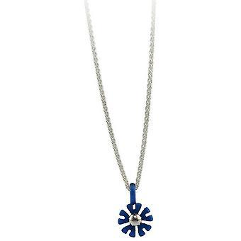 Ti2 Titanium kleine tien Petal bloem hanger - marineblauw