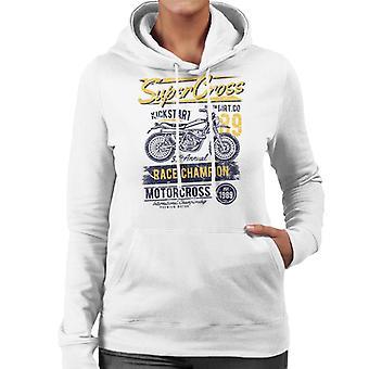 Super Cross Race Champion Women's Hooded Sweatshirt