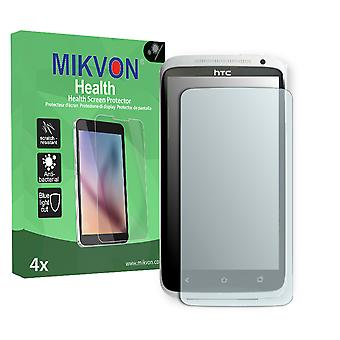 HTC One XL AU Screen Protector - Mikvon Health (Retail Package with accessories) (reduced foil)