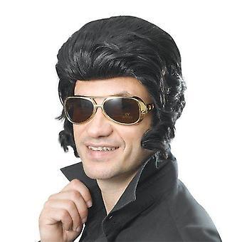 Elvis Perücke & große Koteletten.
