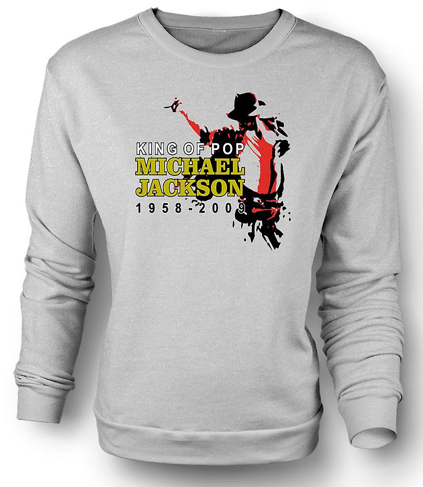 Mens Sweatshirt Michael Jackson King Of Pop - New