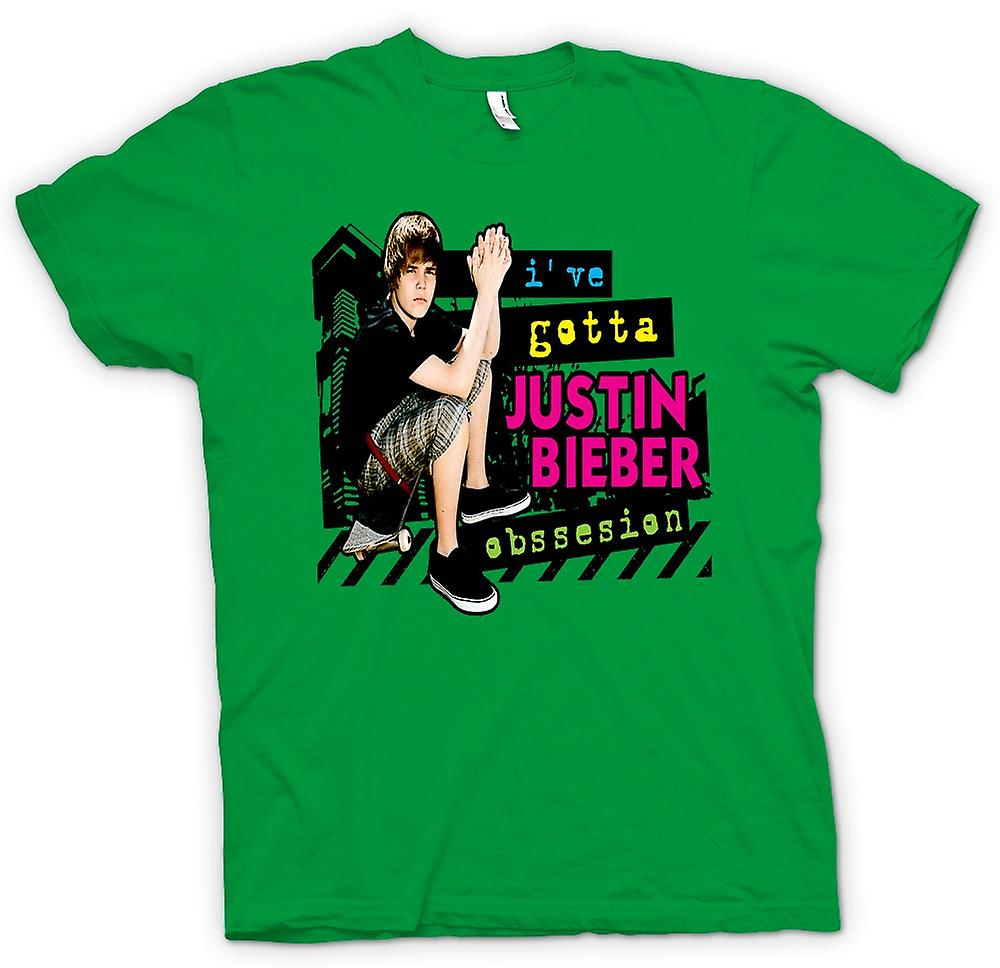 Mens T-shirt-Justin Bieber Obsession