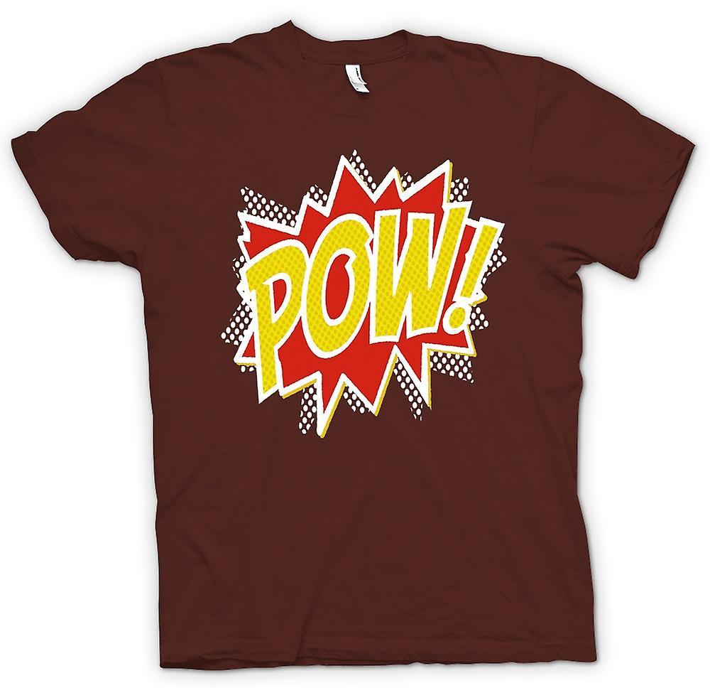 Mens T-shirt - Pow - Comic Funny