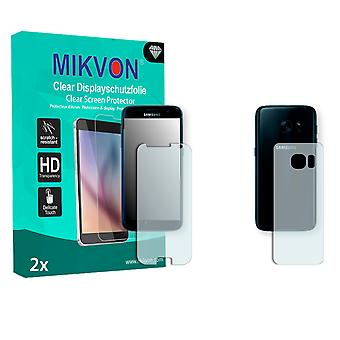 Samsung Galaxy S7 Screen Protector - Mikvon Clear (Retail Package with accessories) (3x FRONT / 3x BACK) (reduced foil)